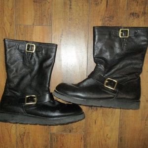 COACH BLACK BOOTS WITH GOLD BUCKLES BUTTERY SOFT